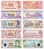 26.8.2004 1 to 20 Lempiras p84//p80//p85c//p86d//p92 UNC Honduras 5 Note Set