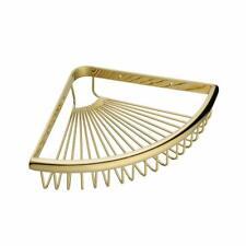1-Tier Triangular Corner Shelf Basket Bathroom Shower Caddy Storage Holder Gold
