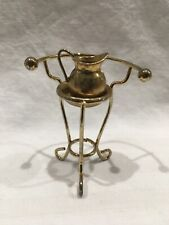 Gold Toned Miniature Dollhouse Antique Wash Basin, Pitcher and Stand