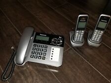 Panasonic KXTG572SK Cordless/Corded Phone and Answering Machine with 2 Handsets