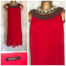 ROMAN DRESS SIZE 14 Red Flapper Summer Holiday Cruise Wedding Party Occasion
