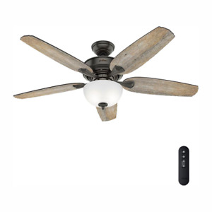 NEW Channing 54 in. LED Indoor Easy Install Noble Bronze Ceiling Fan with Remote