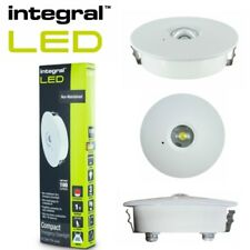 1W LED Emergency Downlight Non-Maintained 3Hr White ultra slim open plan areas