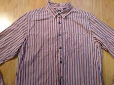 White Stuff Pink & Blue Striped Cotton Long Sleeve Shirt Size Small