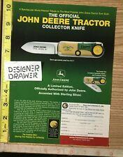 John Deere Tractor Collector Knife 2002Print Ad Advertisement
