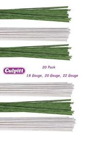 Culpitt Coloured Wire Florist Flowers Sugarcraft Gumpaste Floral 20pck