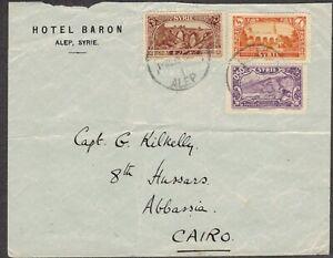 Syria 1935 Hotel Baron, Alep, Cover