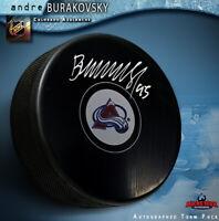 ANDRE BURAKOVSKY Signed Colorado Avalanche Puck