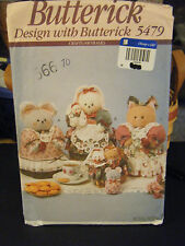 Butterick 5479 Critter Cookie Tins Covers Pattern
