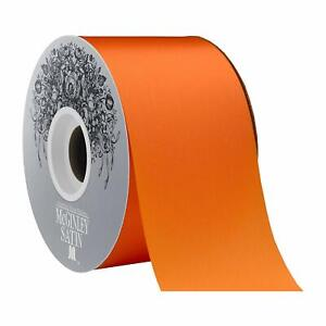 "McGinley Mills 2.5"" W Acetate Satin Ribbon, Orange, 50 Yard Spool"