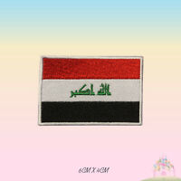 Iraq National Flag Embroidered Iron On Patch Sew On Badge