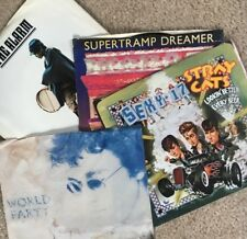 1980s Four 45/PS Lot (Supertramp, World Party, Alarm, Stray Cats) high grades