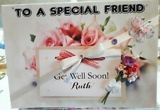 Large Glossy Personalised 'Get Well' Card, Mum, Nan, Sister, Aunt, Friend etc