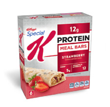 NEW Special K Protein Meal Bars, Strawberry, 1.59 oz, Box of 6 Bars