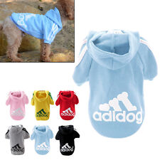 Cool Spring Fall Casual Adidog Pets Dog Clothes Warm Hoodie Coat Jacket Blue 7XL