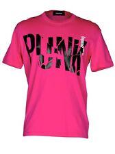 $260 DSQUARED2 XXXL (XL) Hot Pink Fuchsia PUNK Graphic Print T-Shirt Italy