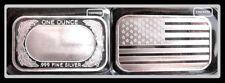 WREATH AMERICAN FLAG - SEALED SILVER BAR  {UNC}  1 OZ .999+  FINE SILVER BULLION