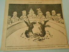 Combat de Coq Les Bons spectateurs Humour Print 1897