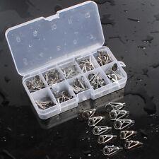 80Pcs/Set Stainless Steel Ceramic Fishing Rod Guide Tip Repair Kit Eye Ring Lin