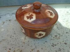 34879 E W Bunzlau Dose Spritzdekor 10x14cm ceramics handpainted