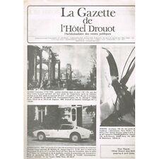 La GAZETTE de l'Hôtel DROUOT 1983 N°13 Dessin d'INGRES Art ABSTRAIT ERNST Chasse