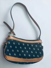 Dooney & Bourke  hand bag purse  Brown & Black Denim Bucket Handbag