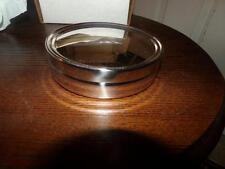 REED AND BARTON SILVERPLATE ROUND NIB TRINKET BOX NO MONO  VANITY
