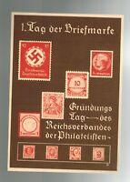 1936 Germany Tag der Briefmarke Stamp Day Color Postal Stationary Cover