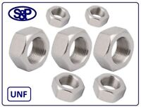 """1/4""""UNF UP TO 3/4""""UNF NUTS ZINC PLATED FULL NUTS BZP UNIFIED FINE HEX NUTS BZP"""