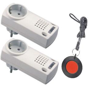 Pflegeruf-Set Sicherheitspaket 4, Hausnotruf, Senioren Notruf mit Halsbandsender