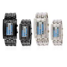 Stainless Steel Strap Luxury Binary Wristwatches