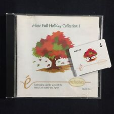 Fall Holiday Embroidery Designs Card - For Deco Brother Baby Lock White