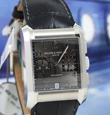 NEW!!! Baume & Mercier Hampton XL Mens Steel Chronograph Watch Black Dial