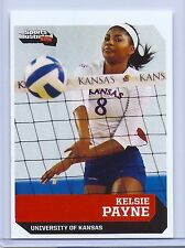 KELSIE PAYNE 2016 SPORTS ILLUSTRATED KANSAS JAYHAWKS VOLLEYBALL ROOKIE CARD!