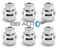 6 NEW CHROME LUG NUT COVERS CAPS CHEVY GMC SILVERADO 1500 2500 FULL SIZE TRUCK