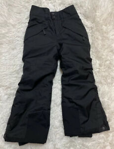 Patagonia Boy's insulated Snowshot Pants - Black Sz XS EUC