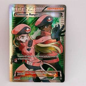 Pokemon Ranger 113/114 - Full Art Trainer - Steam Siege - Pokemon Card - NM