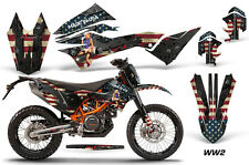 AMR Racing Number Plate Graphic Decal Kit For KTM 690 Enduro R 12-16 WW2 BOMBER
