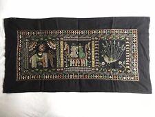 FOLK ART Aarong Bangladesh HAND Made Embroidery Stitch Large WALL HANGING FABRIC