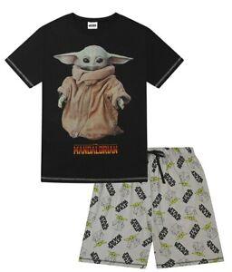 Star Wars Mens Disney The Mandalorian The Child Portrait Short Cotton Pyjama