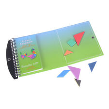 150 Puzzles Book Magnetic Tangram Toys Challenge IQ Montessori Educational Gift@