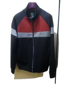 Gents, LUKE SPORT Track Top. Size Large. Colour Black/ Red.