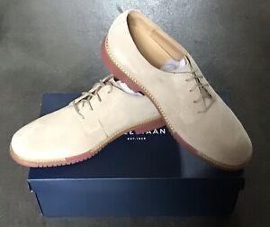 Cole Haan Great Jones Plain Milkshake Suede Oxford Lace Up Shoes Men's 12 M New