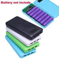 DIY 3 USB 5V 2.1A 7X 18650 Mobile Power Bank Case Kit Battery Charger Box Case C