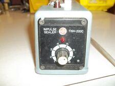 "Power Sealers TISH-200C Impulse Sealer, Seals up to 8"" poly bags, 110V ect"