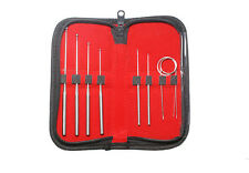 Serpentia Snake Sexing Probes Stainless Steel 9 PC Professional Set in Zip Case