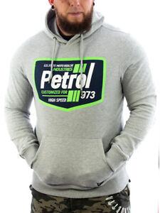 Petrol Industries Kapuzen Hoodie mit Logo-Aufdruck Hellgrau 515-B Männer