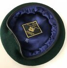 Royal Marines Green Beret, RM Military, Leather Band & Silk Lined, Small Crown