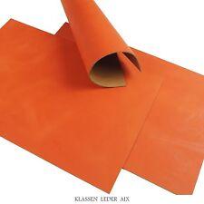 Büffelleder Orange Soft Pull-Up 2,5 mm Dick A3 Format Rindsleder LARP 103