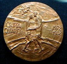 Italy rare large military bronze medal CADUTI CESENA Crypt Ossuary signed/ N 119